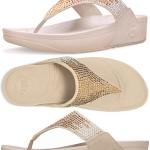 *** พร้อมส่ง FitFlop Flare Sandals - Pebble US 8