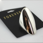 FOREVER 21 Silver Shiny Midi Ring แหวนโล่สีเงิน มาพร้อมแท็กป้ายห้อย เบอร์ 6