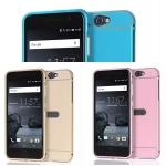 (025-108)เคสมือถือ HTC One A9 เคสกรอบบัมเปอร์โลหะฝาหลังอะคริลิคทูโทน