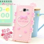 (412-032)เคสมือถือซัมซุง Case Samsung A5 (2016) เคสนิ่ม 3D Youth Love ลายหัวใจและโบว์น่ารักๆ
