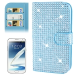 Rubbery Diamond Encrusted for Samsung Galaxy Note II / N7100 (Blue)