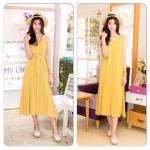 Maxi loose dress สีเหลือง