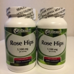 Vitacost Rose Hips -- 1,100 mg 120 Capsules