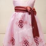 ชุดกระโปรงเด็กหญิงออกงานสีชมพู LL526