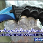 มีดซ้อมคารัมบิตบลูซีสตอร์มเทรนเนอร์ BLUE SEA STORM KARAMBIT TRAINER KNIFE