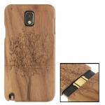 Woodcarving Tree Pattern Black Pear Wood Material Case เคส Samsung Galaxy Note 3 (III) / N9000 ซัมซุง กาแล็คซี่ โน๊ต 3