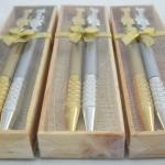 H 112 ของชำร่วย ปากกาคู่เงินทองแพ็คกล่องไม้