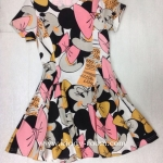 (เด็กโต) เดรสผ้ามินนี่เมาส์ (Minnie Mouse) ทั้งตัว แบบนี้เป็นทรงเข้ารูปนะคะ ผ้าใส่สบาย น่ารักมากค่ะ size 13-17 ( 8-15 ปี)