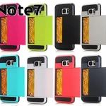 (436-137)เคสมือถือซัมซุง Case Samsung Galaxy Note7 เคสนิ่ม+เกราะพลาสติกมีช่องใส่การ์ด