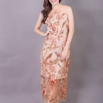 Allure Maxi Lace Dress สีทอง