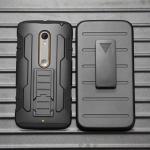 (002-101)เคสมือถือ Motorola Moto X Play เคสนิ่มพื้นหลังพลาสติกแข็งกันกระแทกสุดฮิตเหน็บเอวได้