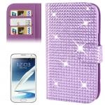 Rubbery Diamond Encrusted for Samsung Galaxy Note II / N7100 (Purple)