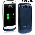 2600mAh Portable Super Thin Power Bank Samsung Galaxy S 3 III (Dark Blue)
