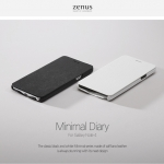 Zenus : Minimal Diary Saffiano Genuine Leather Case For Galaxy Note 4