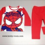 ชุดนอน/ชุดลำลองแขนยาว ลาย Spiderman ขวัญใจน้องๆ ผ้ายืดเด้งๆ เนื้อนิ่ม ใส่สบายค่ะ / size 80-120