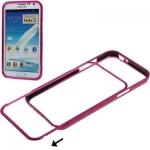 Aluminum Bumper Case Samsung Galaxy Note II , N7100 (Magenta)
