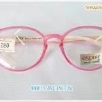 กรอบแว่น EsPoir รุ่น 830 ทรงหยดน้ำ กรอบหน้าสีชมพูใส