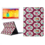 Flower Pattern Protective Case Samsung Galaxy Note 10.1 (2014 Editon) >> P600