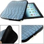 Case เคส Crocodile Zipper Bag iPad 4 (Blue)