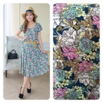 Midi dress - Fairy Rose