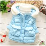 เสื้อโค้ทกันหนาวสีฟ้า สำหรับอายุ 1-4 ปี น่ารักมากค่ะ