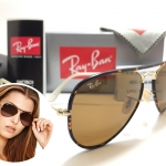 RB 3025J-M Aviator Full Color 001 58-14 3N <Arista/Brown>
