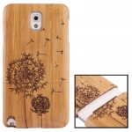Woodcarving Dandelion Pattern Detachable Bamboo Material Case เคส Samsung Galaxy Note 3 (III) / N9000 ซัมซุง กาแล็คซี่ โน๊ต 3