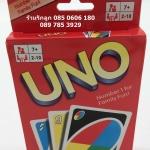 UNO อูโน่บัตเกมต่อสีและอักษร