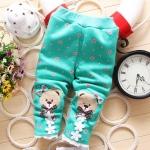 กางเกงสีเขียวกันหนาว สำหรับอายุ 1 - 4 ปี