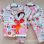 (เด็กเล็ก) ชุดนอนแขนสั้น-ขายาว ลายสโนไวท์ Snow White ผ้ายืดผสม cotton งานกุ๊นดี พิมพ์สวย ผ้าใส่สบายค่ะ size 1-4