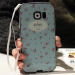 (พร้อมส่ง)เคสมือถือซัมซุง Case Samsung S6 Edge เคสนิ่มขอบสีพื้นหลังลายสวยๆน่ารักๆ