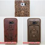 (415-002)เคสมือถือซัมซุง Case Samsung S6 เคสไม้ประกบสองชิ้นลายยอดฮิต
