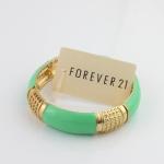 FOREVER21 Green Pastel Enamel Bangle กำไลข้อมือแต่งอีนาเมลสีเขียว