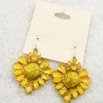 Sunflower Crystal Earing ต่างหูคริสตัลรูปดอกทานตะวันสีเหลืองสดใส