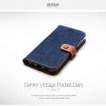 Zenus : Denim Vintage Pocket Diary Case Cover For Galaxy S7