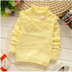 เสื้อกันหนาวไหมพรม สีเหลือง ผ้านิ่ม ผ้าดี น่ารัก สำหรับอายุ 6 เดือ 8 เดือน 1 ปี