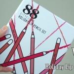 Ver.88 Holiday Lip Pencil Set ลิปดินสอเนื้อแมท กันน้ำ ติดทน ในรูปแบบแท่งดินสอไม้ เขียนรูปทรงบนปากได้ง่ายขึ้น
