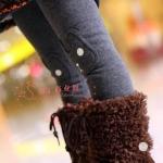 กางเกงแล็กกิ้งเด็ก สีเทา กันหนาวได้ มีไซร์ 90 ,100, 110, 120, 130