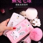 (360-005)เคสมือถือซัมซุงโน๊ต Case Note3 เคสนิ่มใสประดับคริสตัลกระต่ายหูตั้งโทรศัพท์ได้