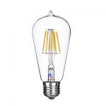 หลอดไฟLED Filament Bulb ST64 6W ขั้วE27