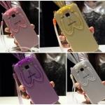 (440-057)เคสมือถือซัมซุง Case Samsung A8 เคสนิ่มใสกระต่ายหูยาว