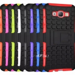 (027-424)เคสมือถือซัมซุง Case Samsung A8 เคสกันกระแทกสองชั้นขอบสี