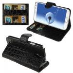 Case เคส หังจระเข้ สีดำ Samsung GALAXY S4 IV (i9500)