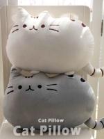 หมอนแมว cat pillow มี 5 สี ขาว เทา ดำ ส้ม ชมพู