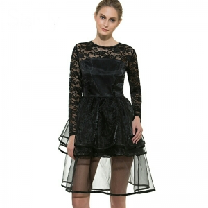 Celebrity Fancy Party Dress แต่งลุคสาวมั่น ด้วยชุดเดรสผ้าแก้วสไตล์ดาราสาว และเซเลบสาวทับทิม อั้ม พัชราภา ชอบใส่ ชุดแฟชั่นใส่ออกงานแฟนซี ปาร์ตี้ SIZE M