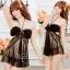 2in1 Sexy Dress ชุดนอนเซ็กซี่ซีทรูสีดำสุดหรูแต่งระบายอก สายคล้องคอ+จีสตริง thumbnail 1