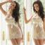 2in1 Sexy Princess Ivory Dress ชุดนอนเซ็กซี่ผ้าซีทรูลูกไม้สีขาวงาช้างแต่งลูกไม้อก พร้อมจีสตริง สวยสง่าไสตล์เจ้าหญิง thumbnail 1