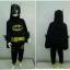 Batman (งานลิขสิทธิ์) ชุดแฟนซีเด็กแบทแมน มีไฟ 3 ชิ้น เสื้อ กางเกง และผ้าคลุม ช่วงแขนแต่งหนามเท่ห์ๆ ให้คุณหนูๆ ได้ใส่ตามจิตนาการ ผ้ามัน Polyester ใส่สบายค่ะ หรือจะใส่เป็นชุดนอนก็ได้ค่ะ size S, M, L, X สำเนา thumbnail 1