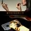(025-162)เคสมือถือไอโฟน case iphone 5/5s เคสกรอบโลหะพื้นหลังอะคริลิคเคลือบเงาทองคำ 24K thumbnail 2