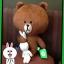 ตุ๊กตาline Brown หมีบราวจับหูกระต่ายโคนี่ ขนาด 40 cm. thumbnail 1